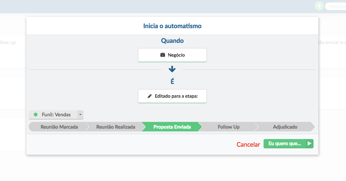 Unmaze CRM: Inicia Automatismo